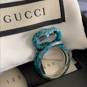 Authentic Gucci double snake ring
